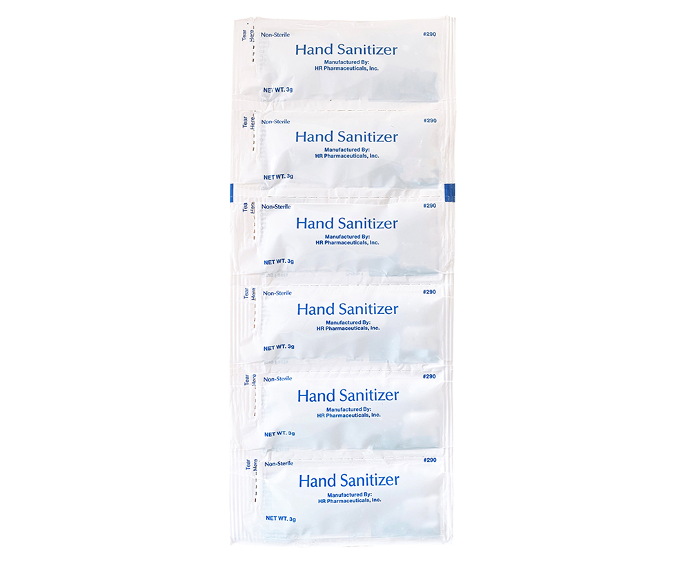 3gm hand sanitizer packets